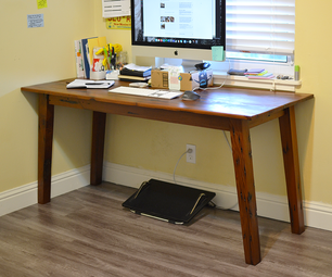 DIY中世纪现代计算机书桌与再生木头