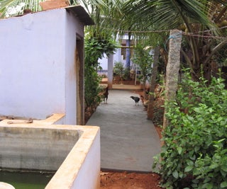 Home Improvement : Constructing a Paved Footpath in the Kitchen Garden