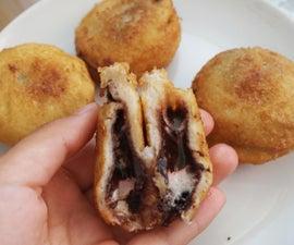 Marshmallow Nutella Fried Sandwich