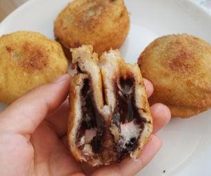 棉花糖nutella炒三明治