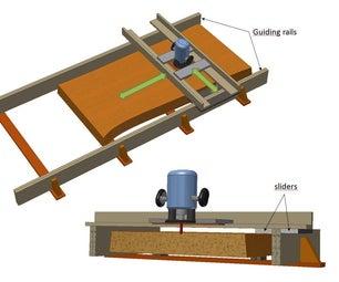 Large Wood Slab Planer
