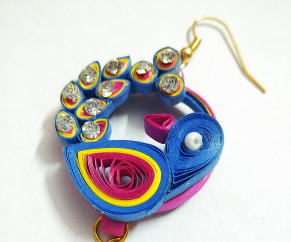 Paper Quilling Jewellery Set