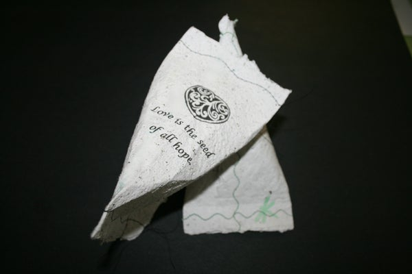 Blooming Recycled Paper Gift Bags