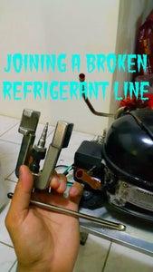 Repairing a Broken Refrigerant Line.
