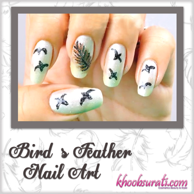 Bird's Feather Nail Art - Do it Yourself
