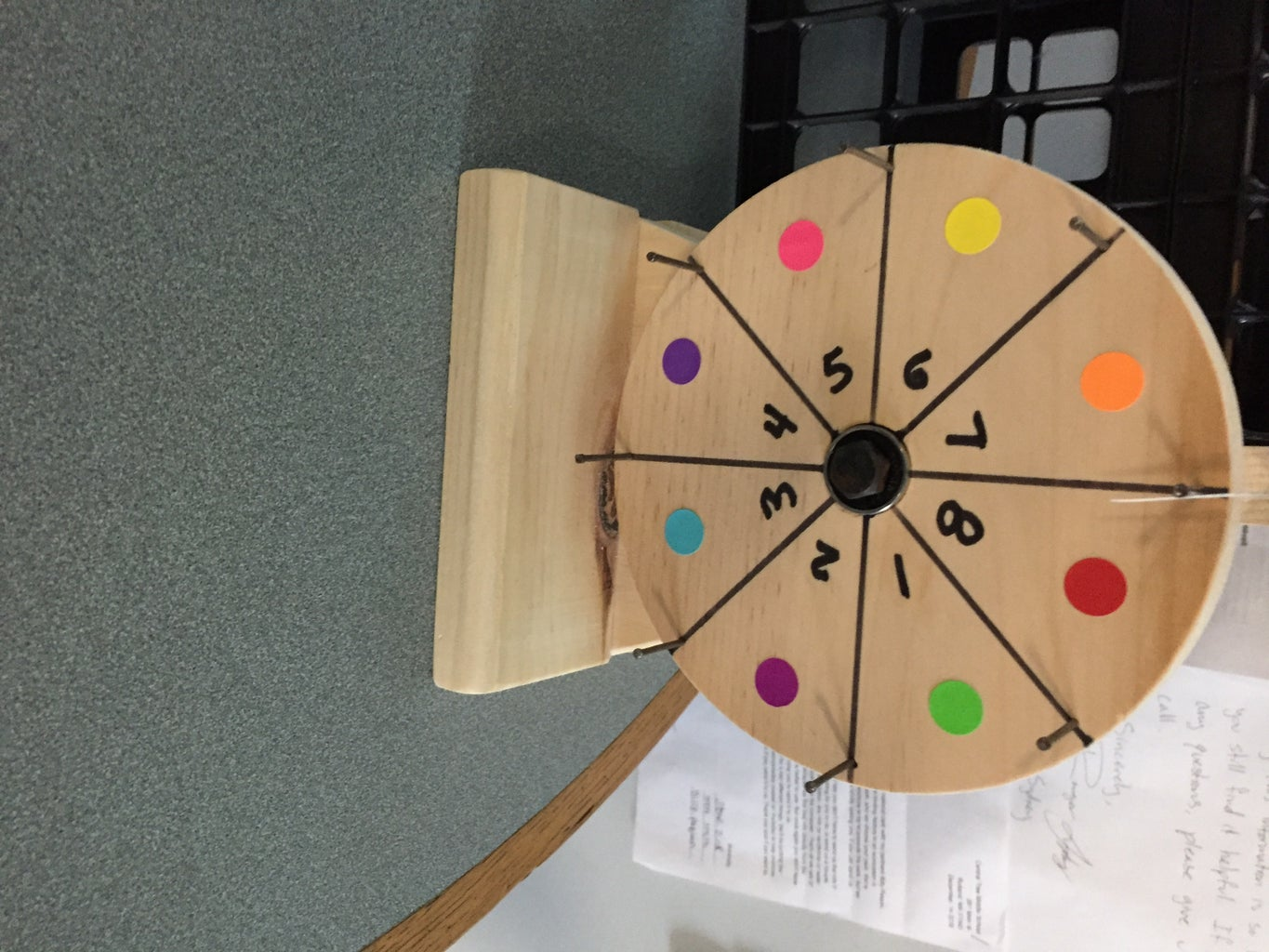 Creating the Game Cards and Spinning Wheels for the Game