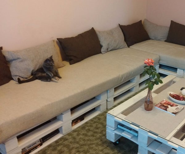 Our Pallet Sofa and Table