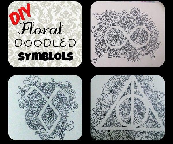Floral Doodled Symbols!