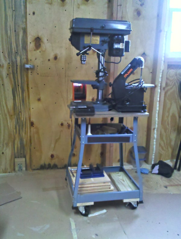 The $45 Drill Press Cart - Intro