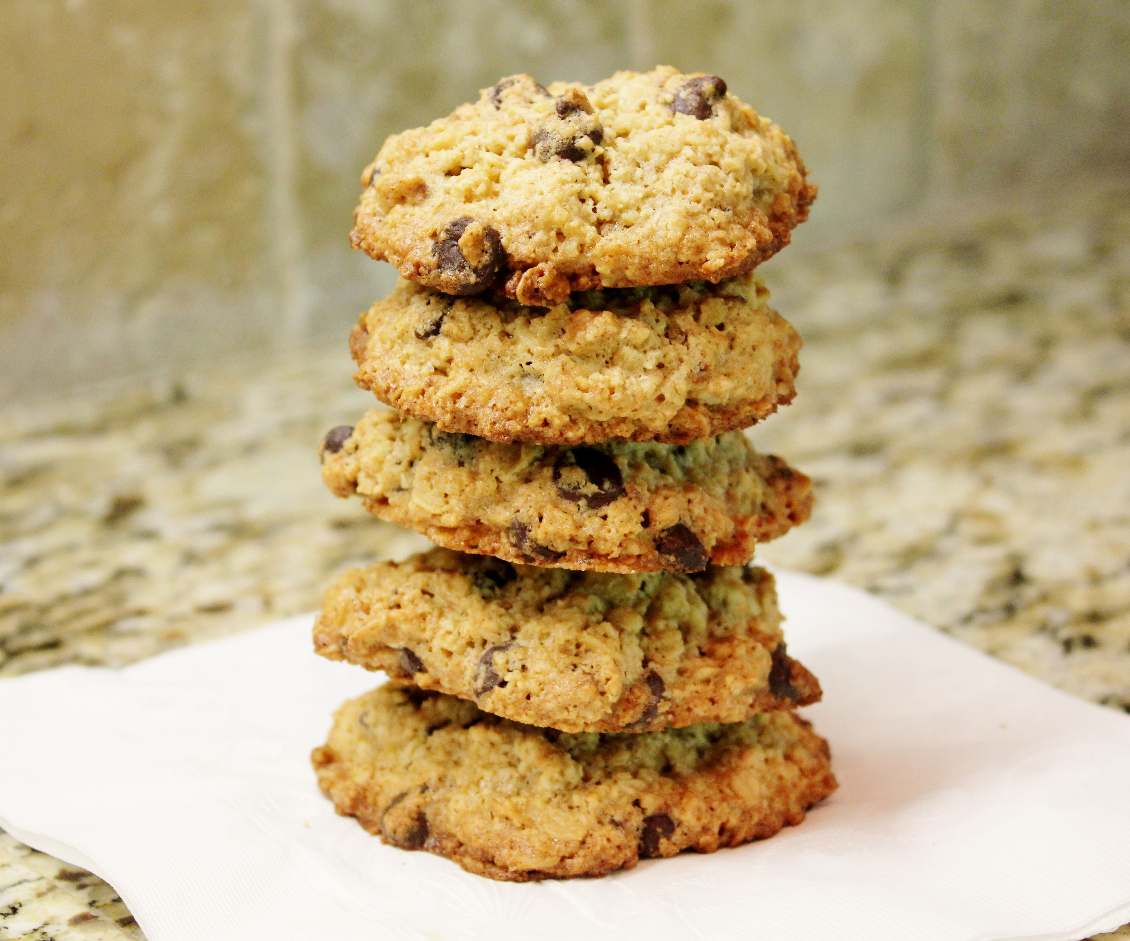 Old Fashioned Oatmeal Chocolate Chip Cookies (gluten free)
