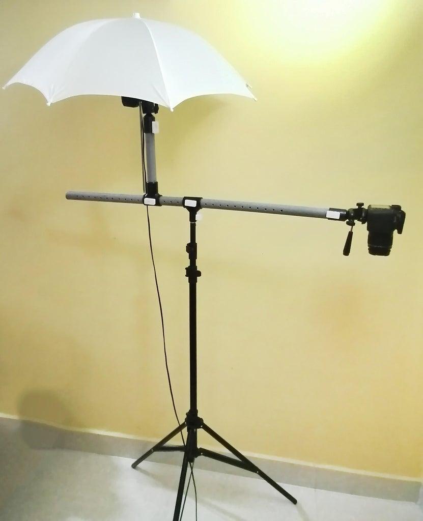 DIY Convert Studio Light Stand to Horizontal Camera Tripod