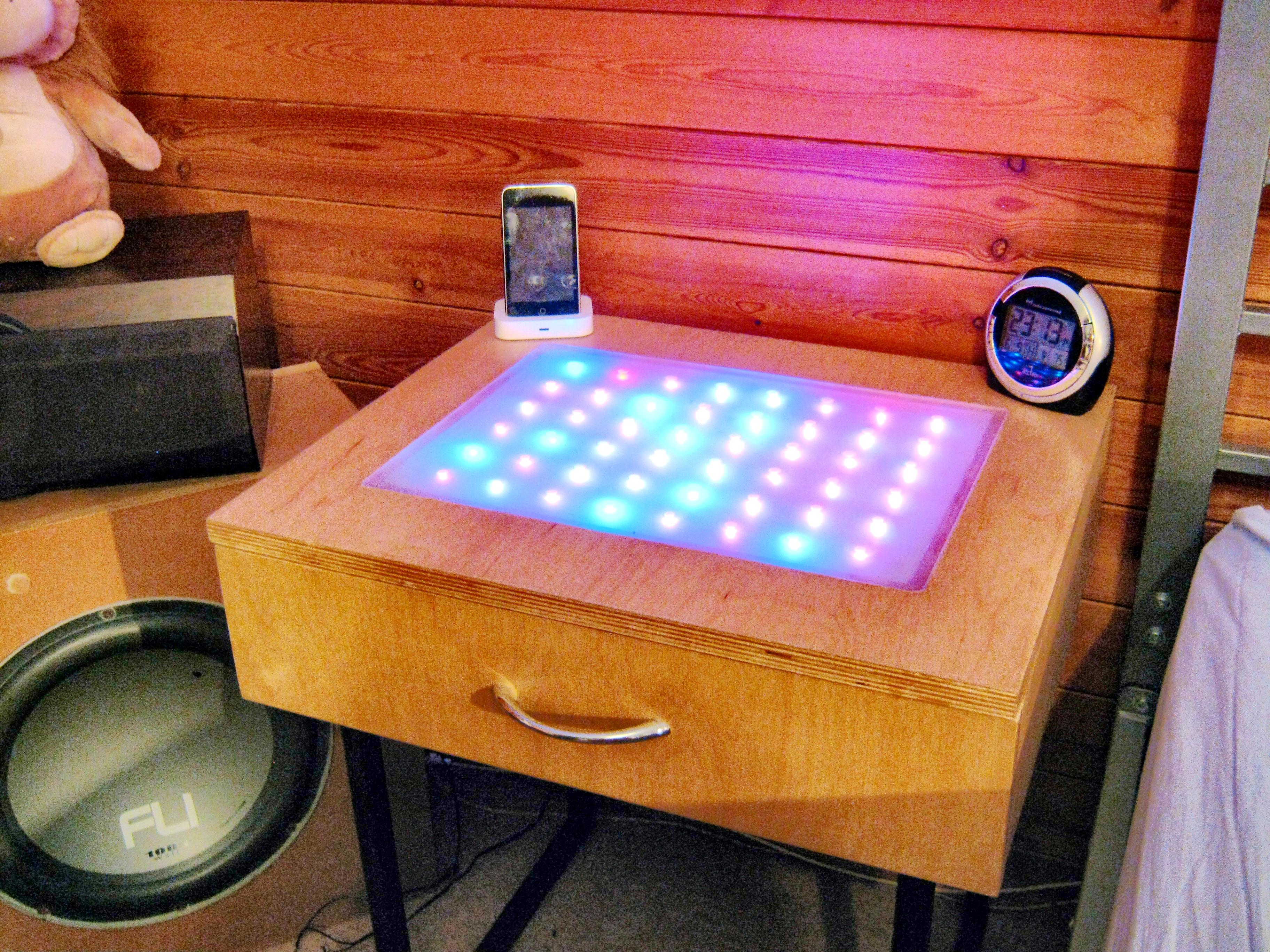 Colour Changing Led Table