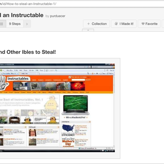 How to Steal an Instructable