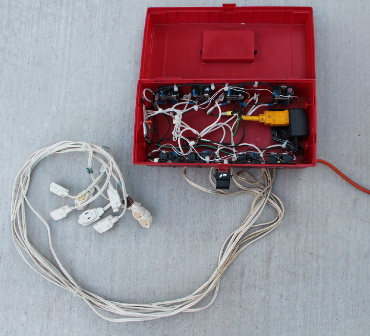 Electric Imp to control 8 electrical lights using internet