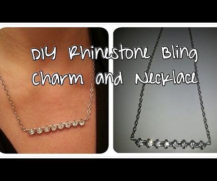 DIY Rhinestone Bling Charm & Necklace