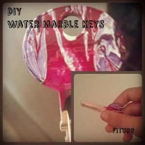 DIY Water Marble Keys- Don't Get Confused Again