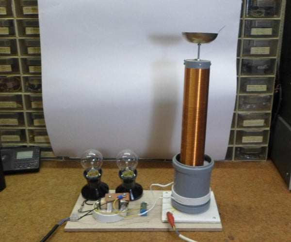 Extremly Simple Tesla Coil With Only 3 Passive Components (8+ Cm Spark)