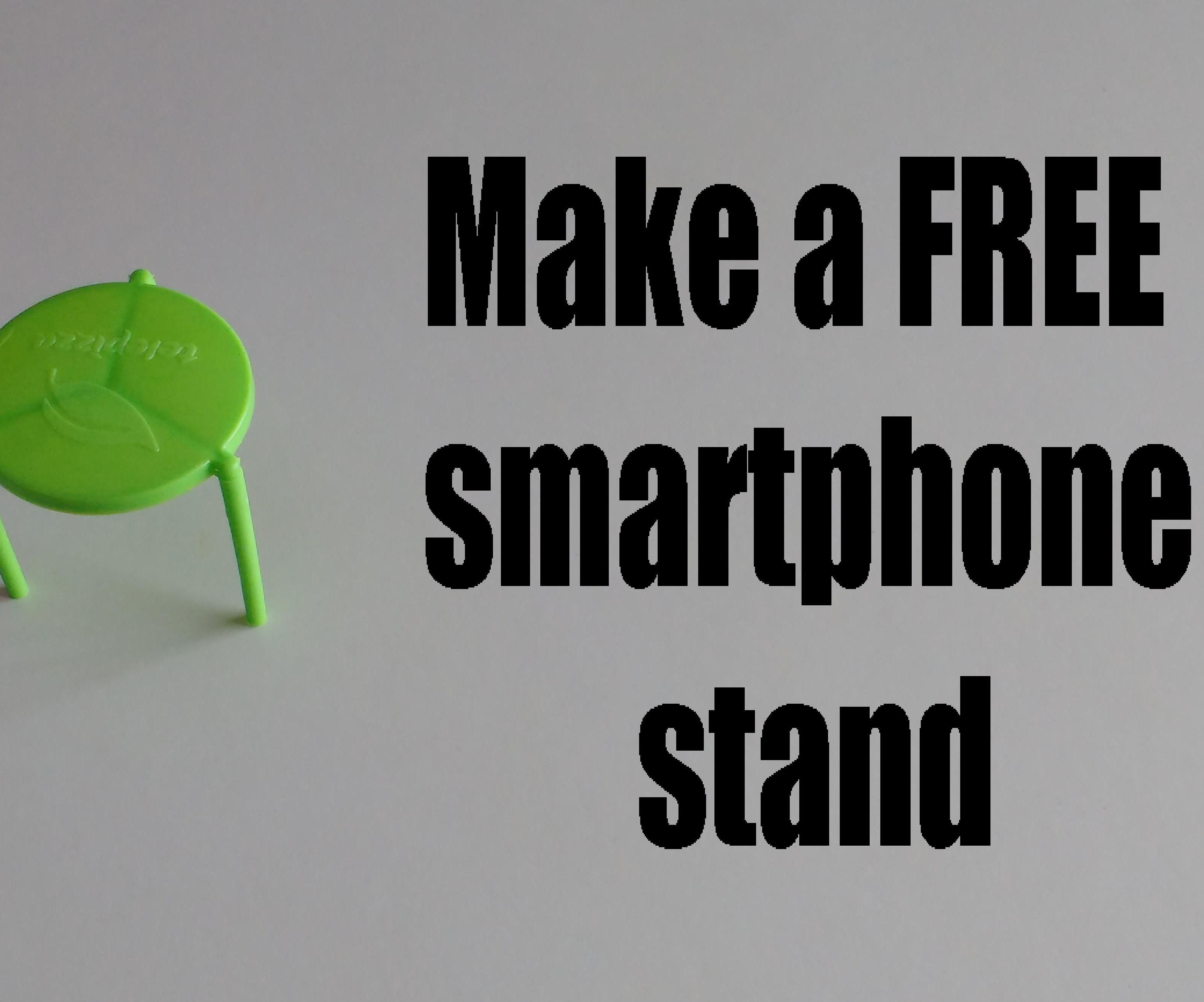Make a FREE smartphone stand