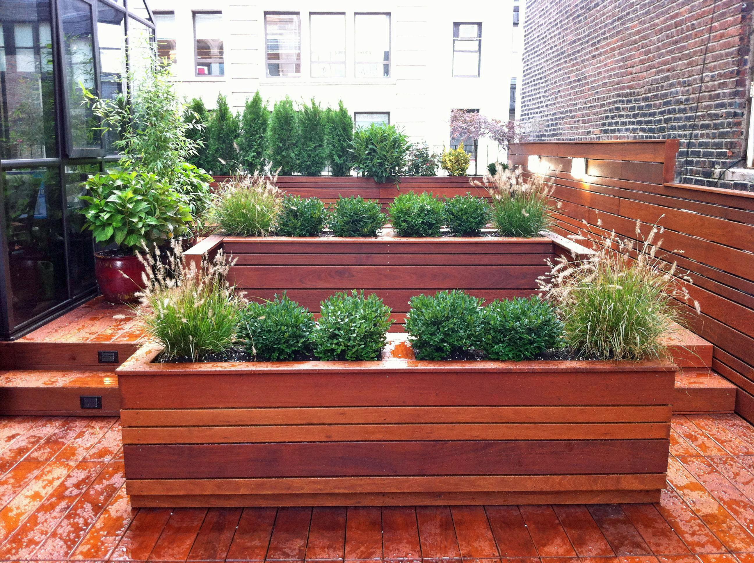 NYC Roof Garden Contemporary Design