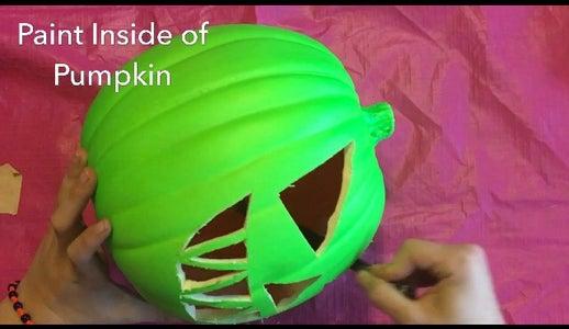 Paint Inside of Pumpkin