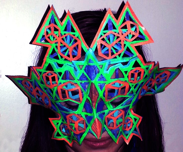 Leather & Glow : Cut-out Tessellate Mask