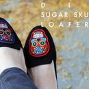 DIY Changeable Sugar Skull Loafers