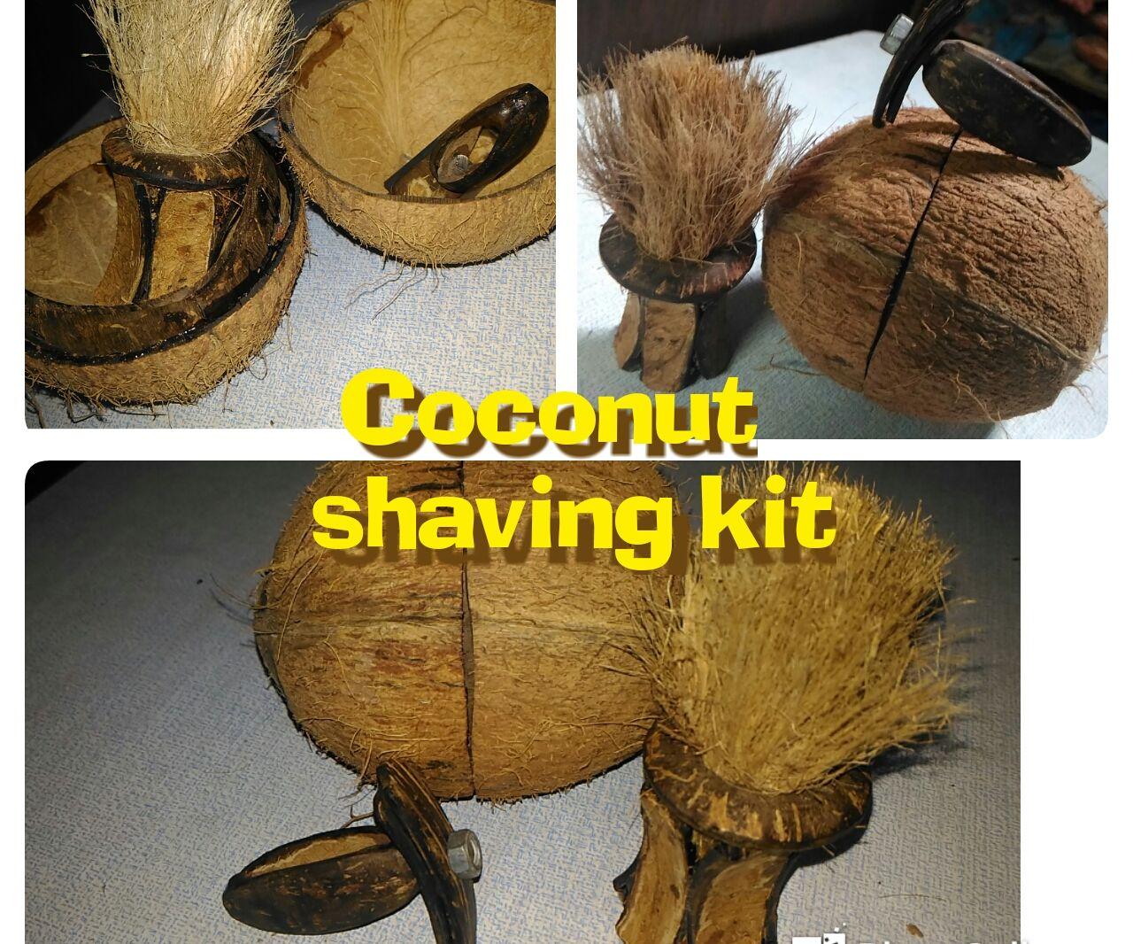 Shaving Kit from Coconut Shell