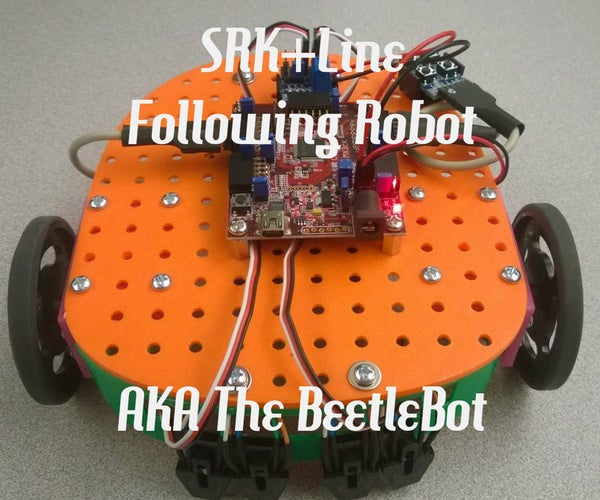 Line Following SRK Robot With 3d Printed Parts