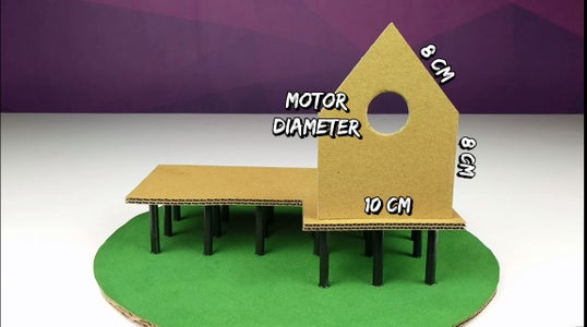 Follow the Images Shown to Make Cardboard Cutouts of the Measurements Given in Them, and Place Them As Shown.