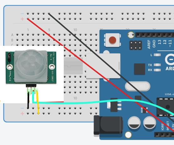 Alarm using Arduino+ pir+rfid badge+servo motor+nfc