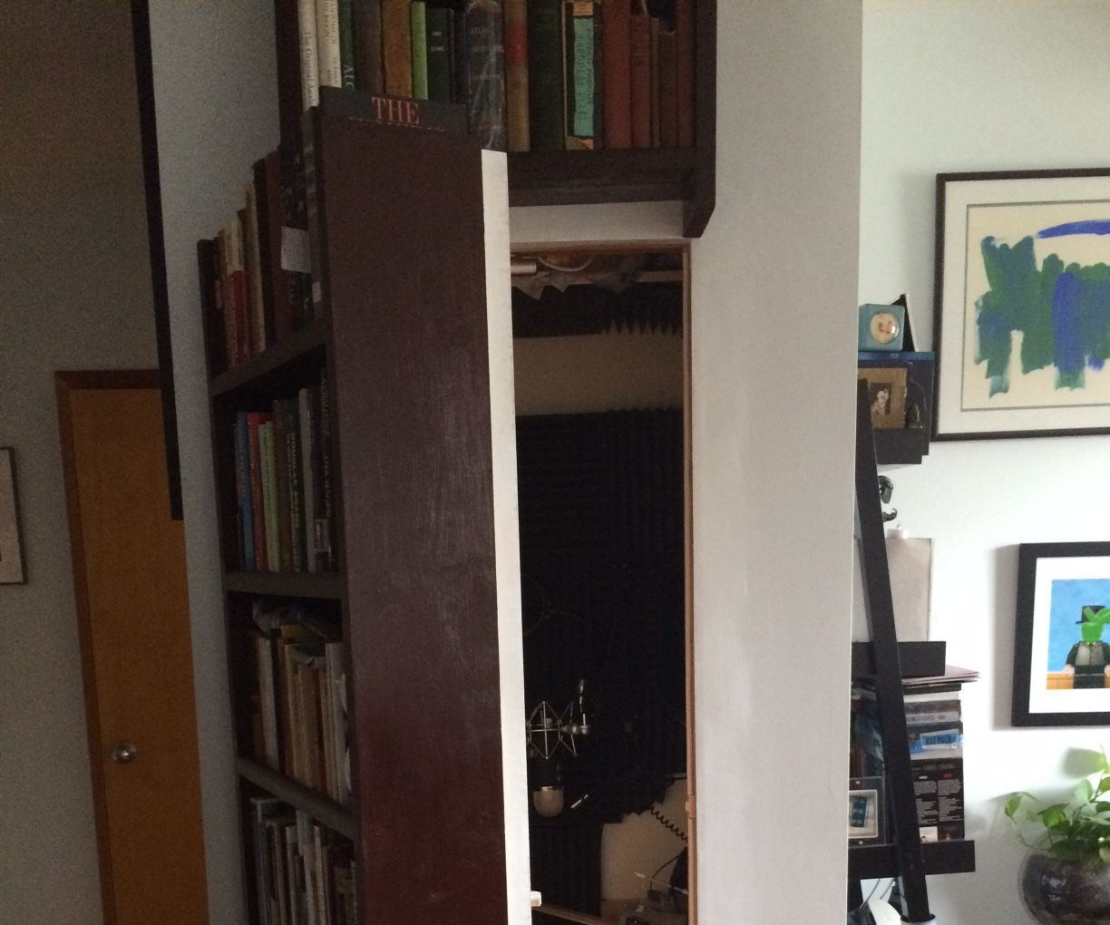 Super SIMPLE Secret Bookshelf Door & Book Unlock Mechanism