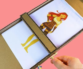 Magic to Transform a Girl With a Cardboard