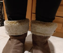 Recycled Cosy Boot Slippers