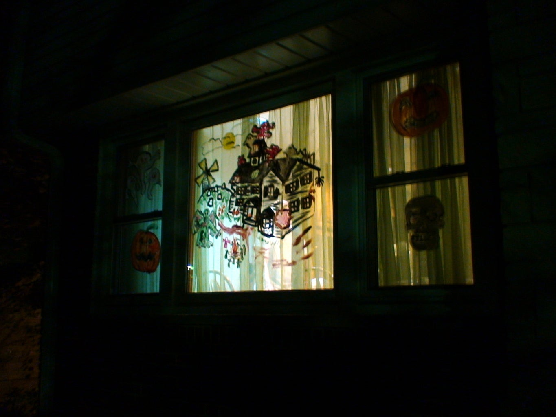 Halloween Window Painting Decorations