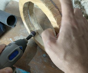 Initial Inner Sanding Using the Dremel