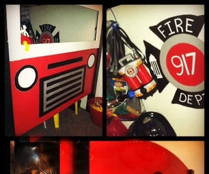 DIY Firetruck Bed