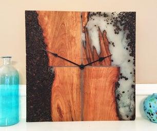 Live Edge Cherry Java Clock