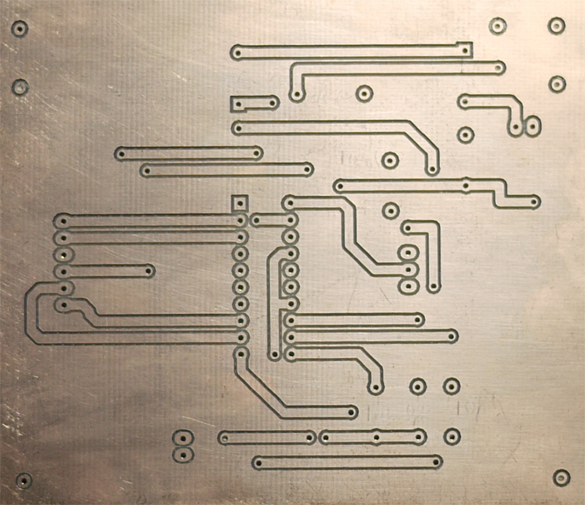 CNC USB dual layer PCB milling