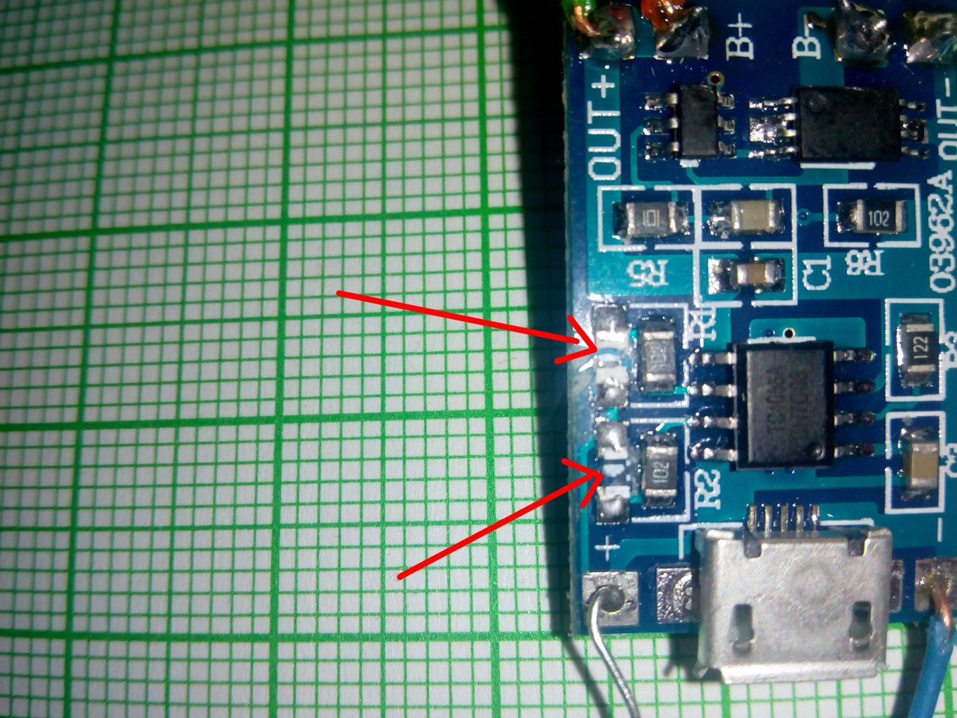 LED Diodes on TP Board