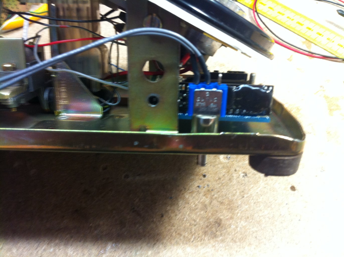 Placing the Switch, Led and Charger Jack