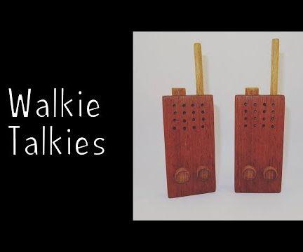 Wooden Toy Walkie Talkies