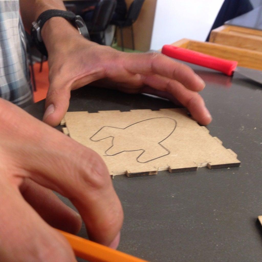 Marcar Una Cara Con Diseño Para Corte