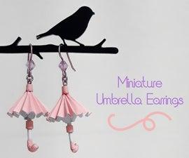 Miniature Umbrella Earrings