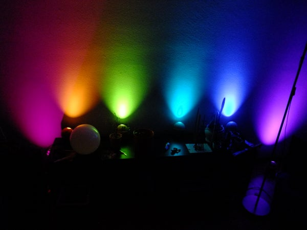 Chained Mood-light Using High Power RGB LEDs