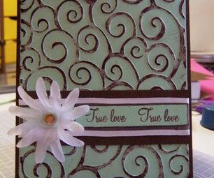 Mint Chocolate Chip Valentine Card