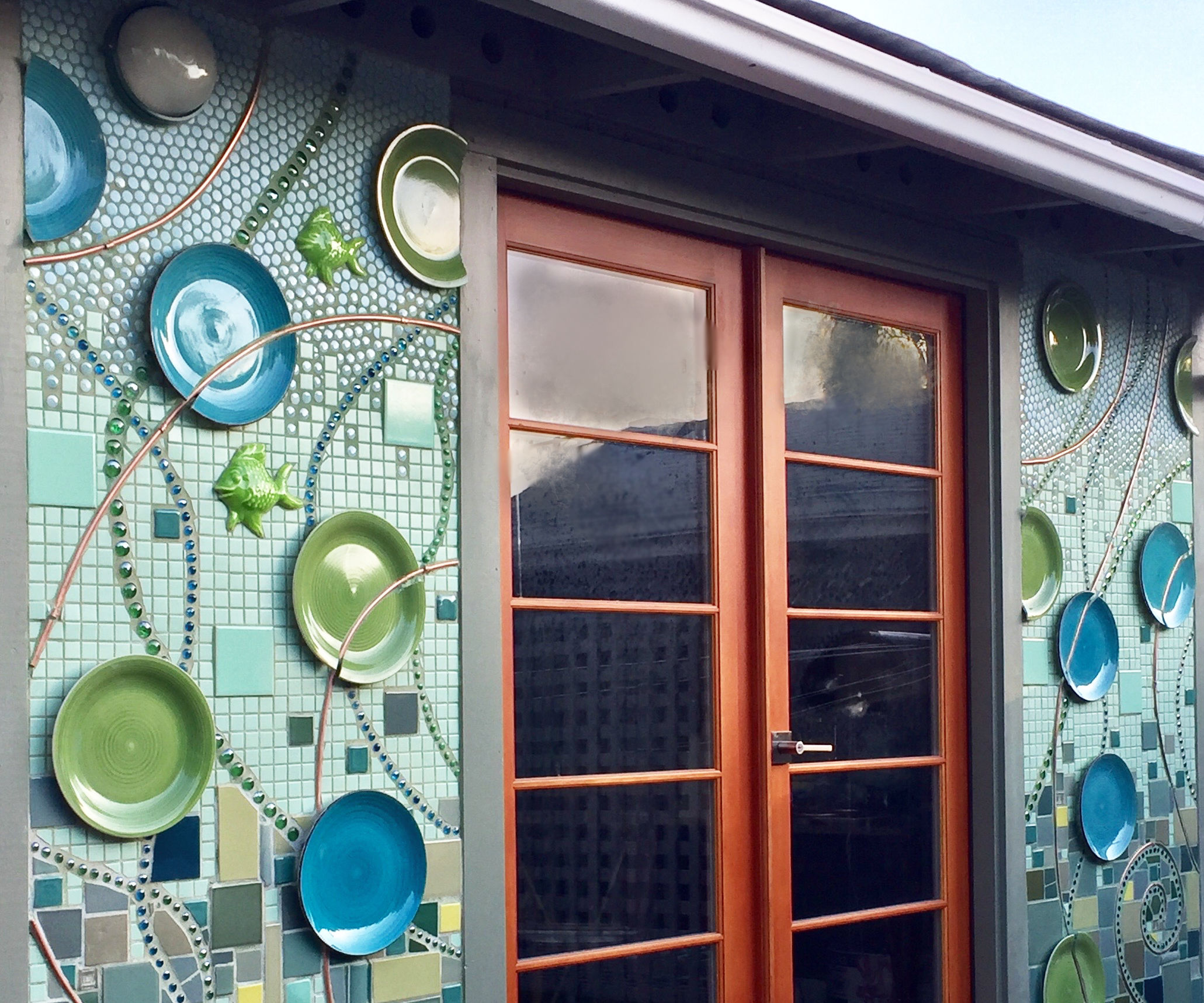 Outdoor Tiled Wall
