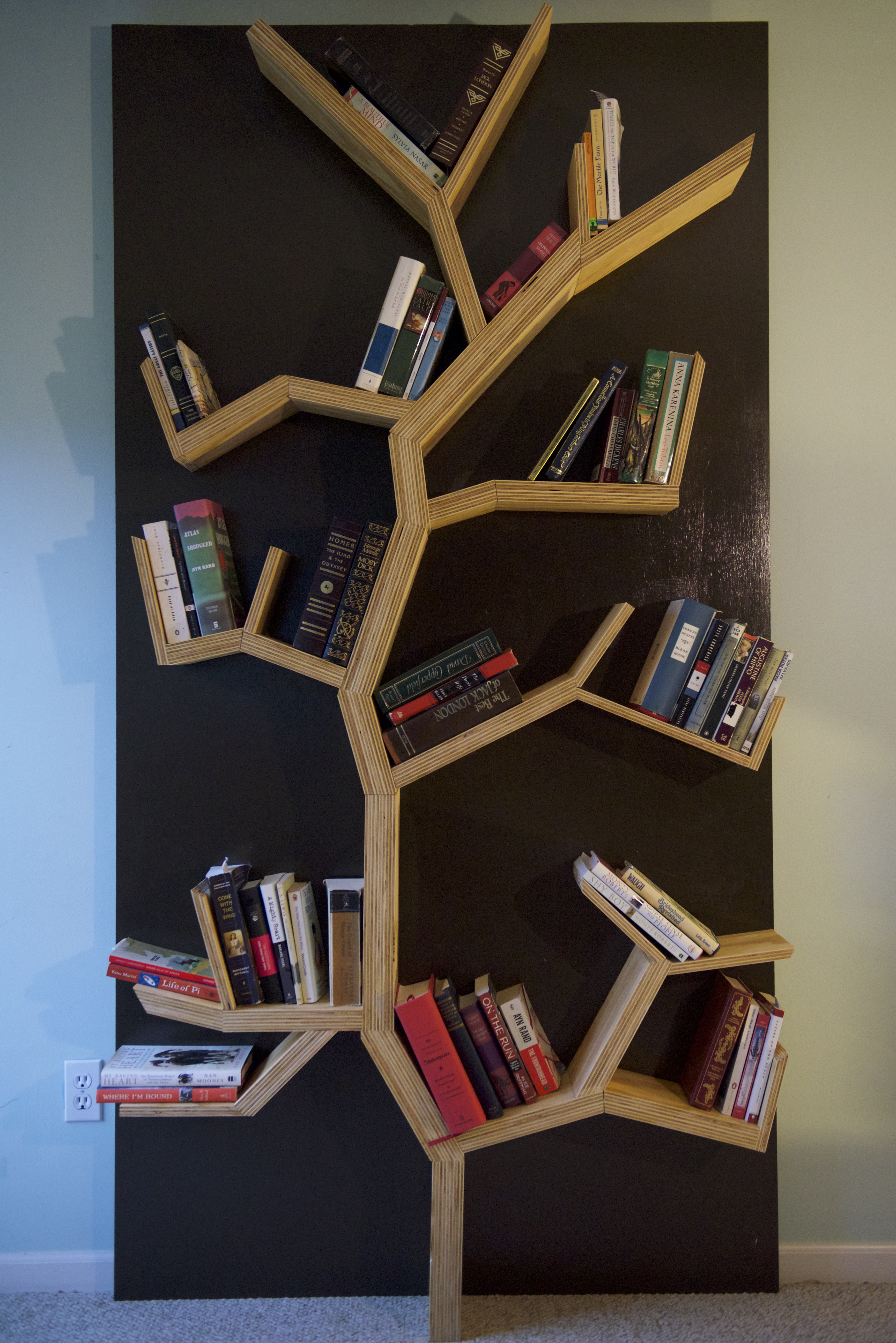 Tree Bookshelf Diy 5 Steps With Pictures Instructables