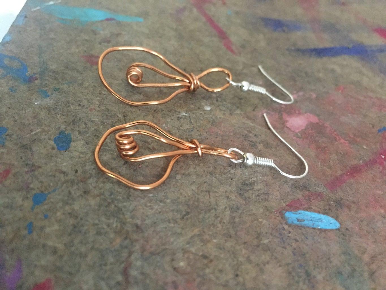 Wire Lightbulb Earrings