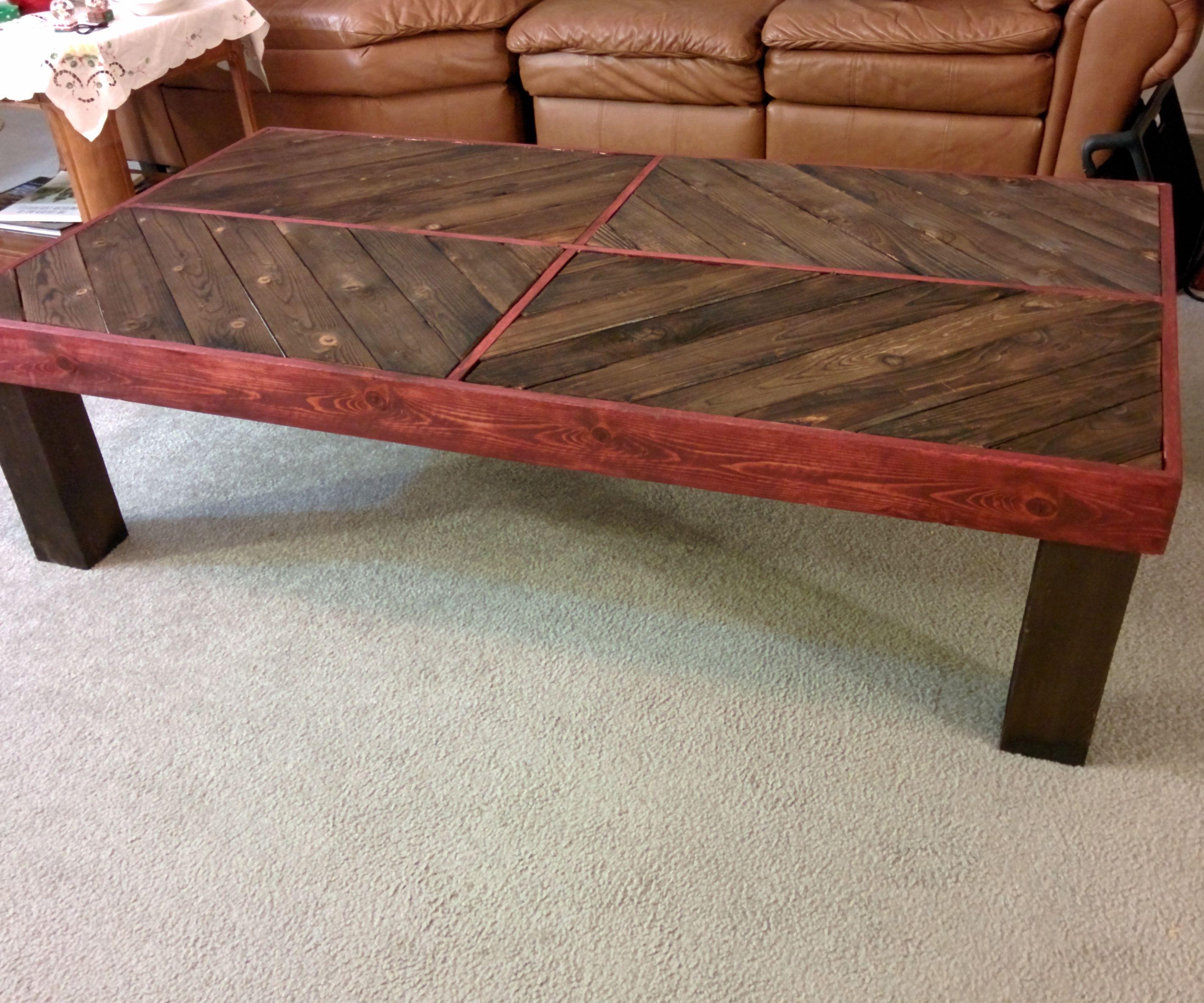 Using Shou Sugi Ban to make an interesting coffee table