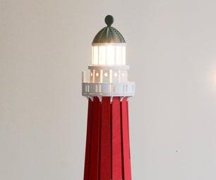 Scheveningen Lighthouse Lamp (Laser-Cut Scale Modeling)
